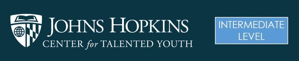 Johns Hopkins CTY Intermediate Banner