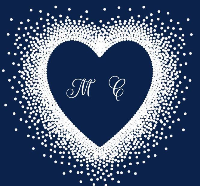 M C Wedding Invitation