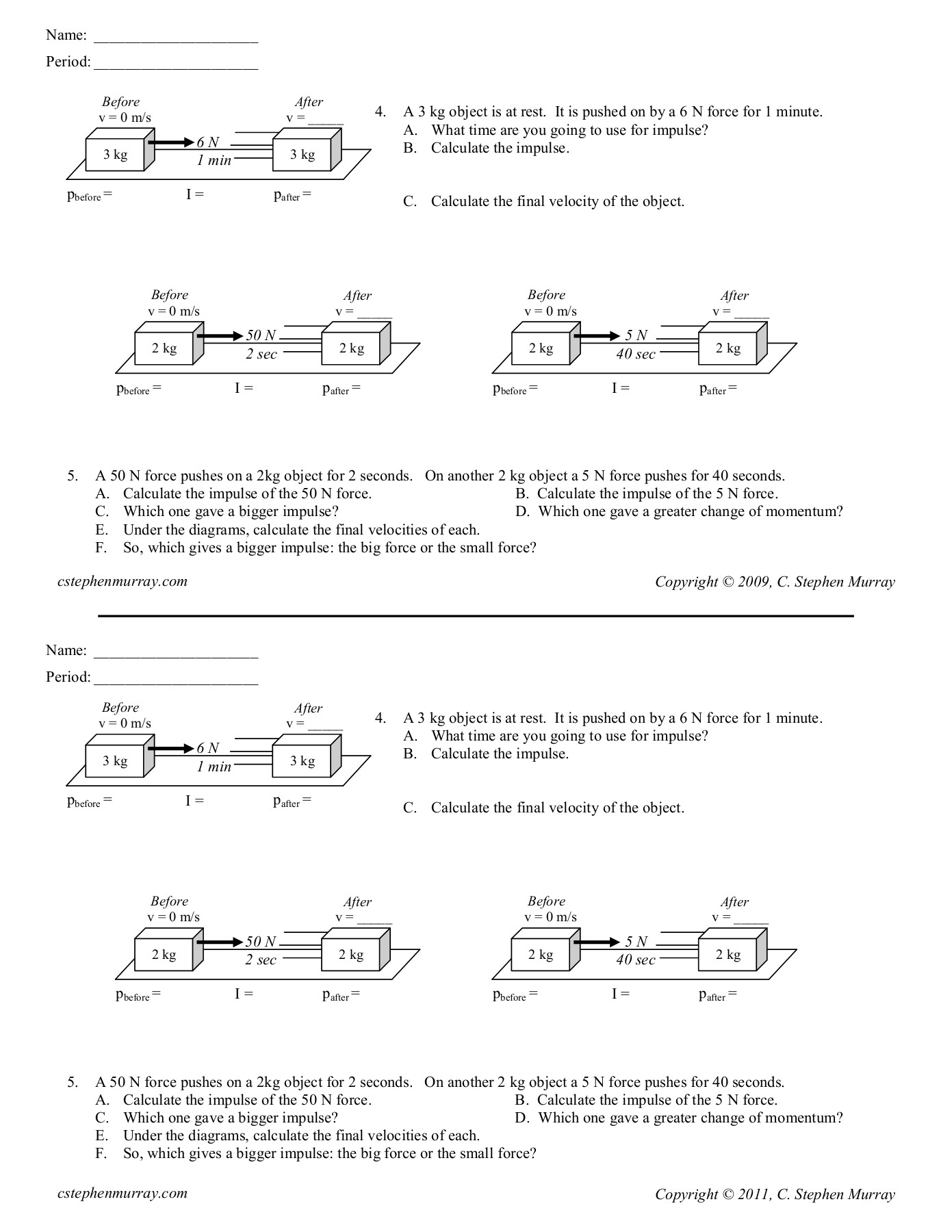 Printables Of The Law Of Conservation Of Momentum