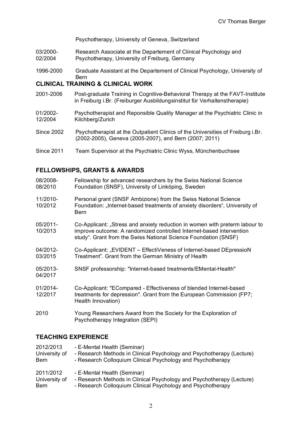 Curriculum Vitae Thomas Berger Snis Flip Ebook Pages 1 4 Anyflip Anyflip