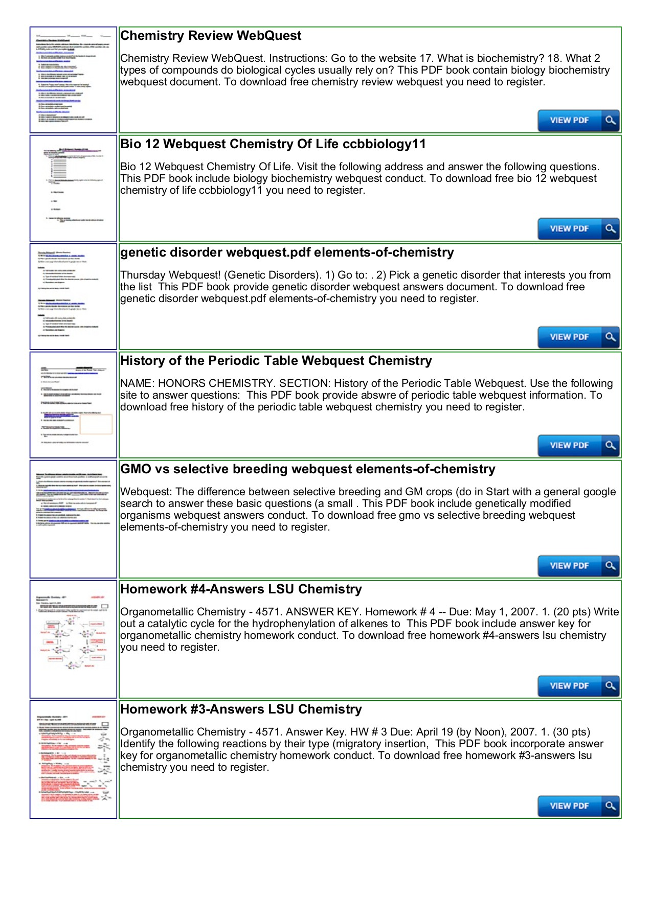 Periodic Table Webquest Answers