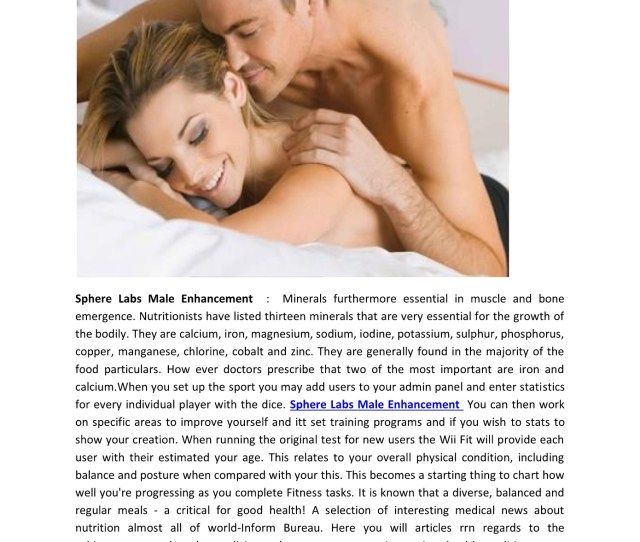 Sphere Labs Male Enhancement Enhance Your Sexual Health And Performance
