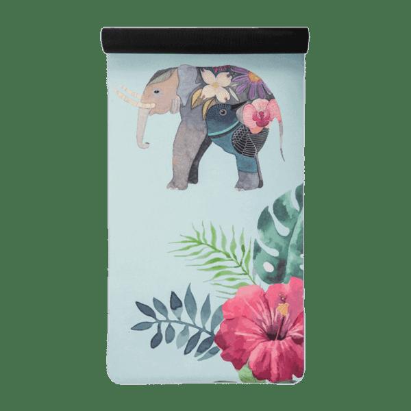 Velúr Jógamatrac Elefánt Mintával