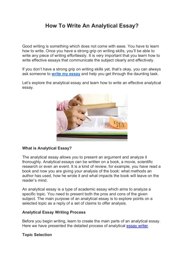How To Write An Analytical Essay.docx188 Pages 188 - 18 - Flip PDF