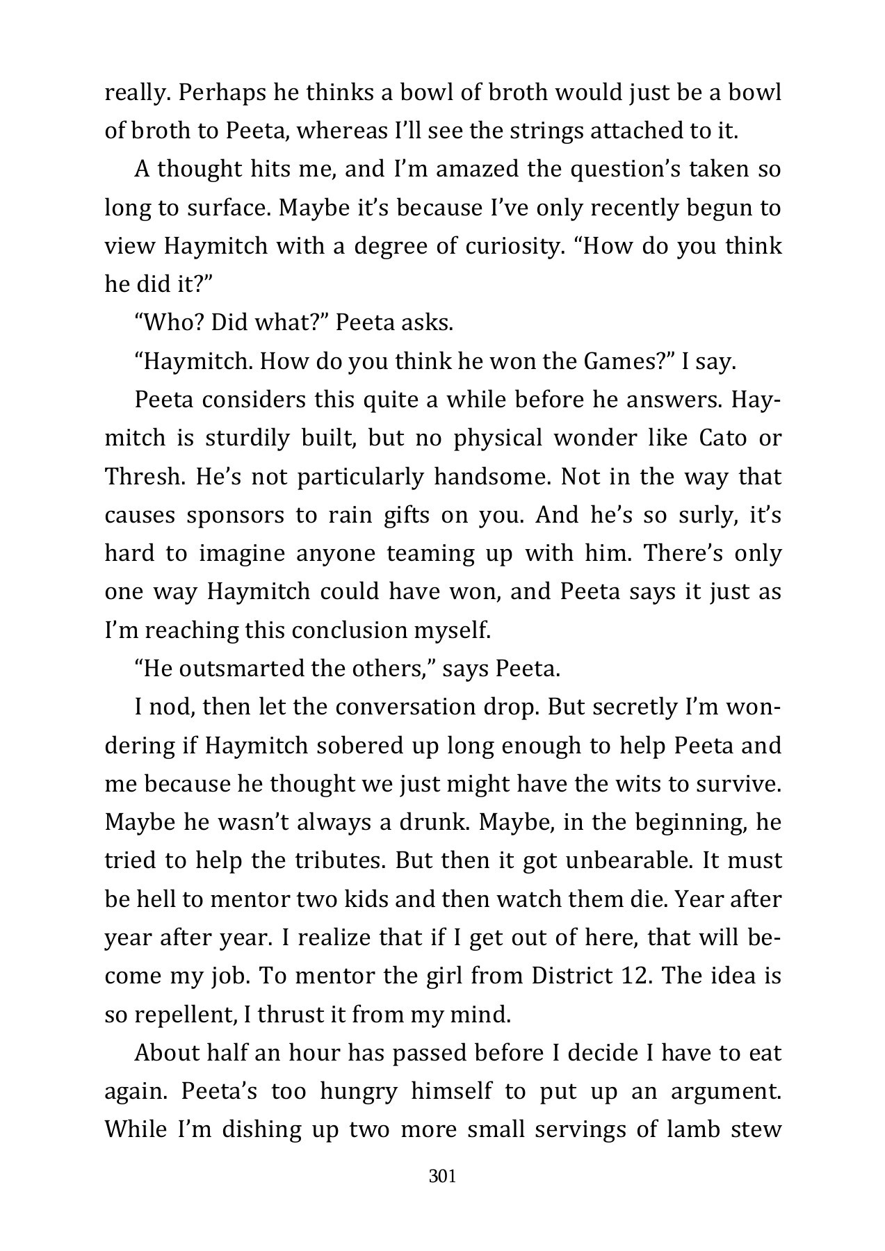 Last Page Of The Hunger Games The Hunger Games Quotes