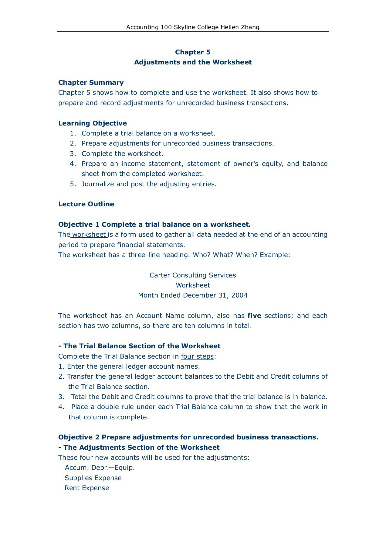 Accounting Transaction Worksheet Example