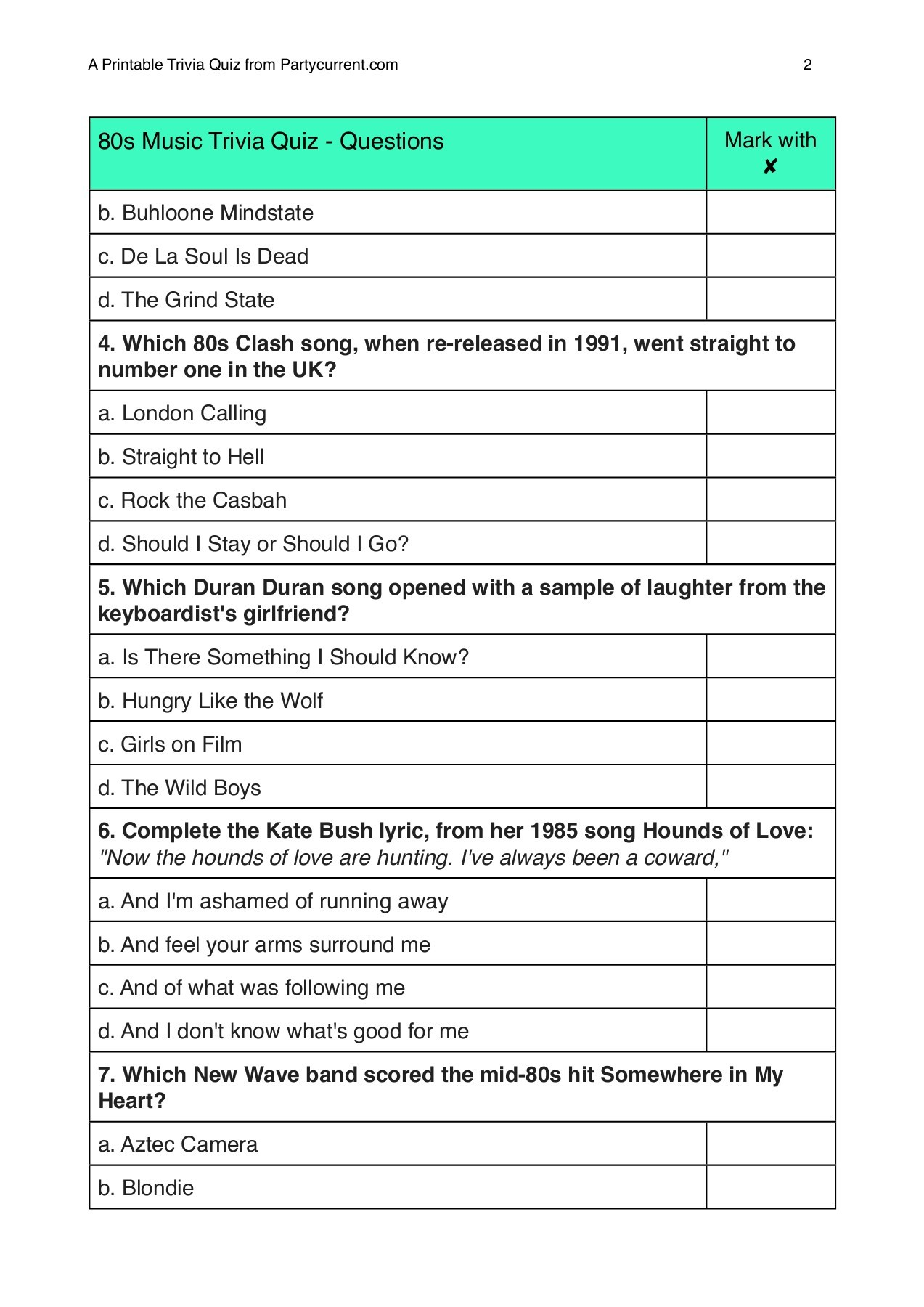 It is a photo of 5th Grade Trivia Questions and Answers Printable pertaining to summer