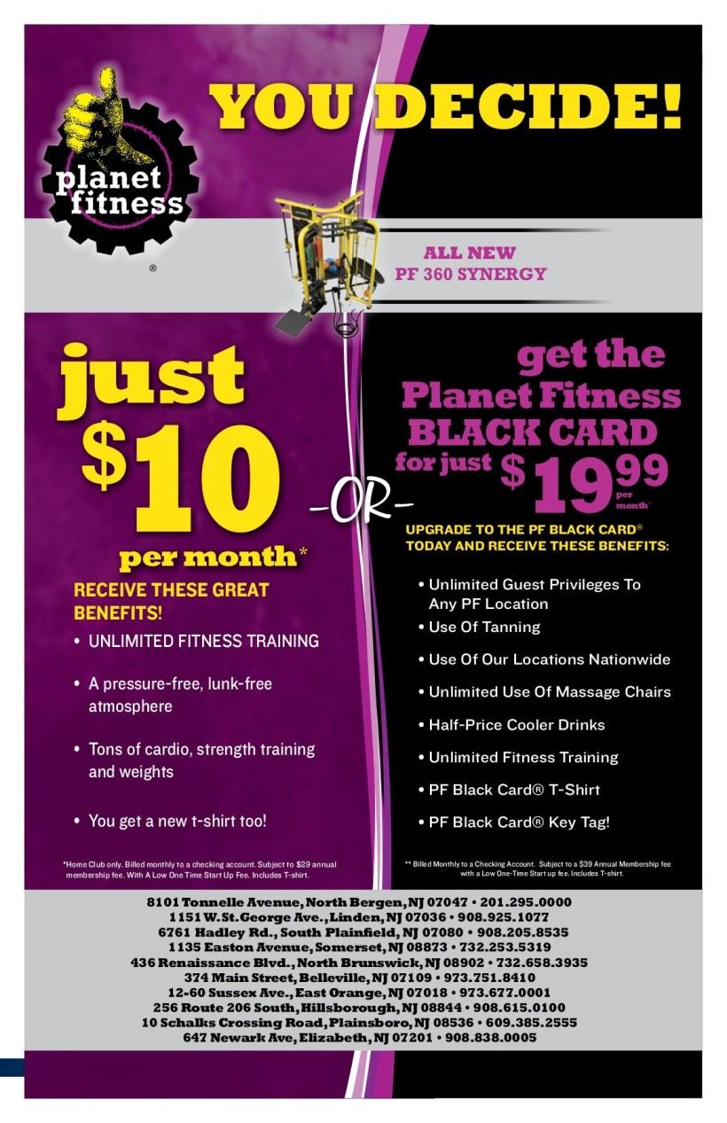 planet fitness black card benefits