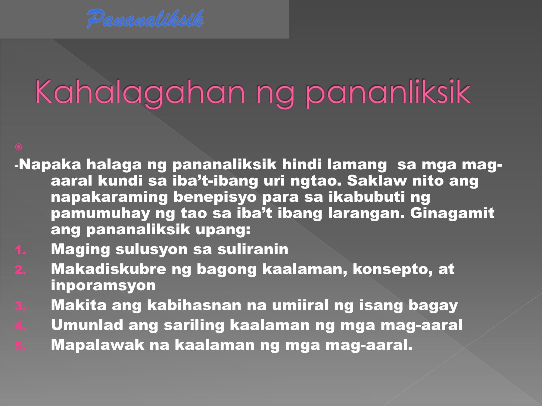 Mga Bahagi Ng Pan Iksik Sa Filipino 2 Essay On