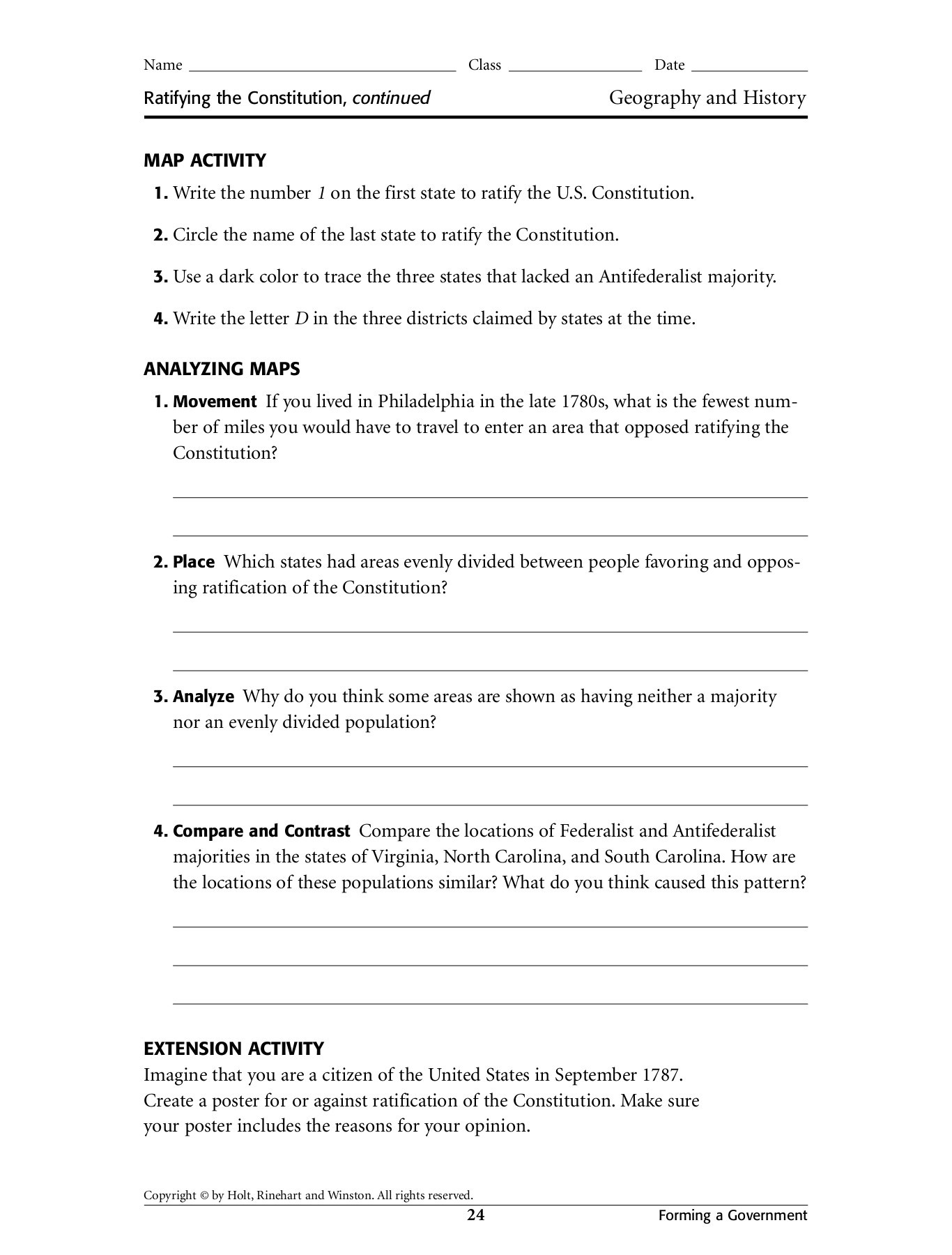The Northwest Territory Worksheet Answers