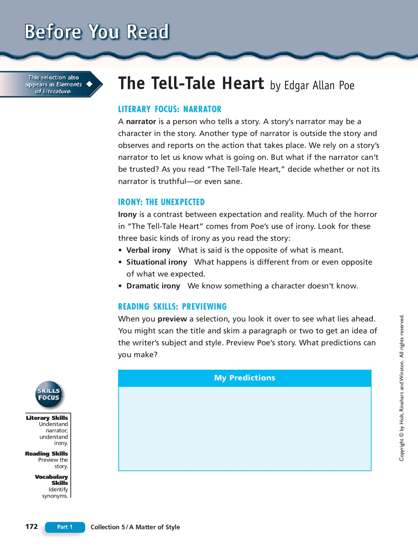 Irony In The Tell Tale Heart What Are Examples Of Irony