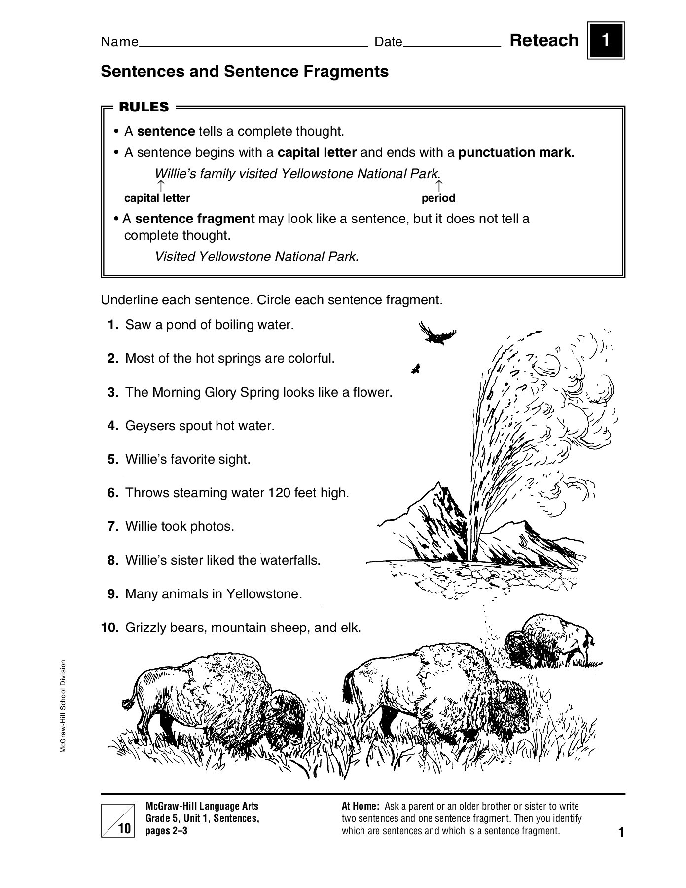 Declarative Sentence Worksheet For Grade 2