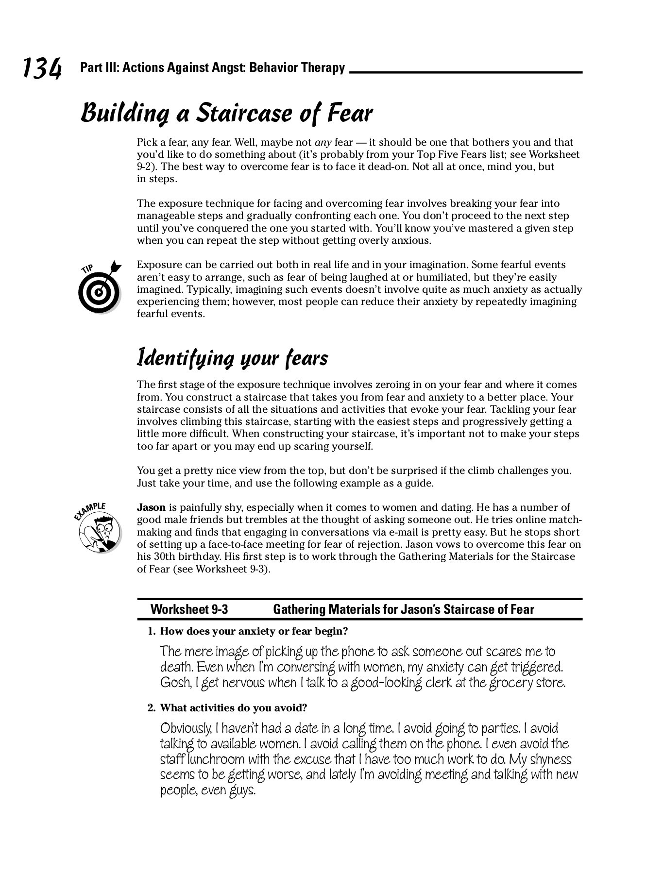 Anxiety Worksheet For Adults