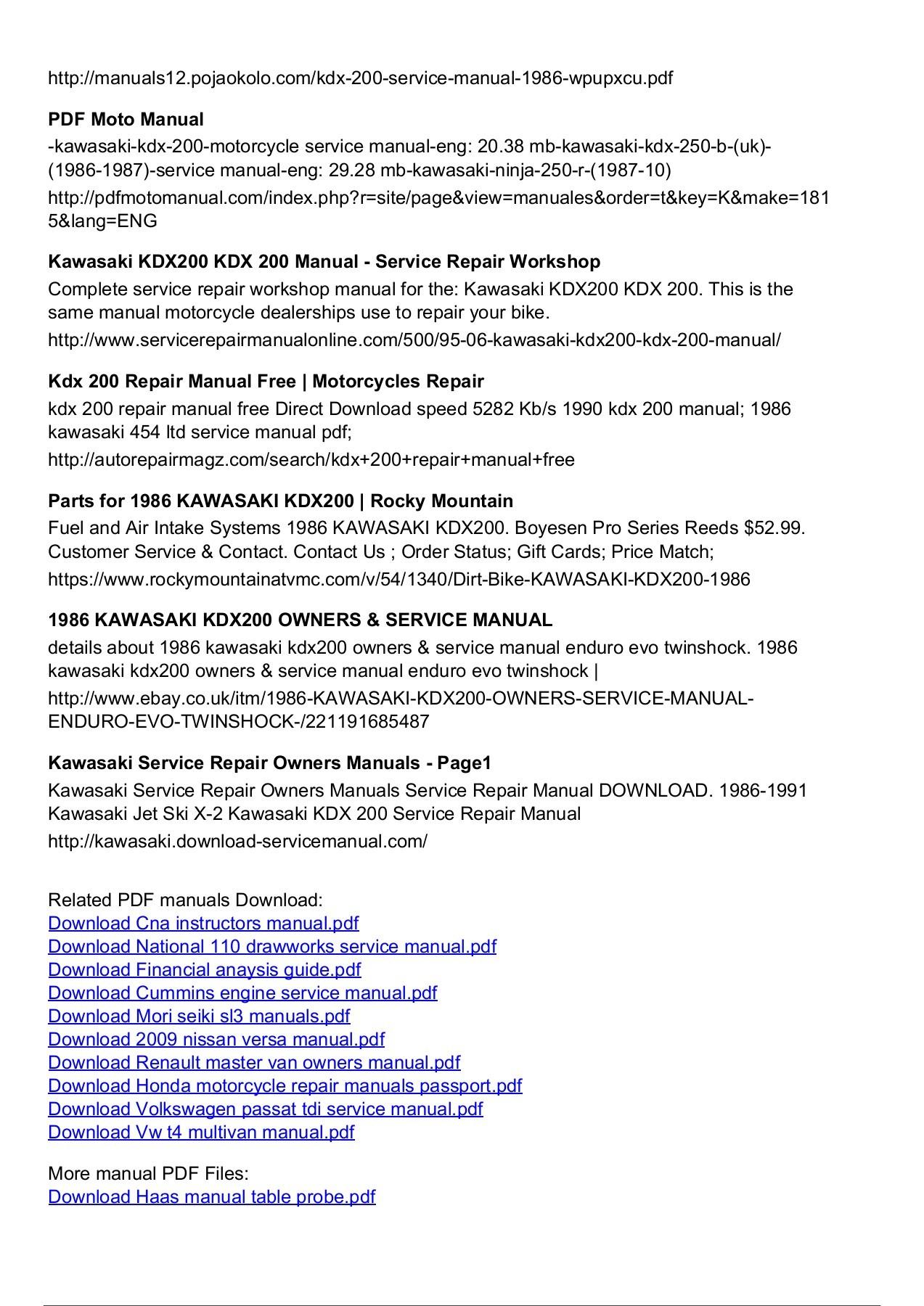 ... repair manual Array - kawasaki x2 manual free rh kawasaki x2 manual  free logoutev de
