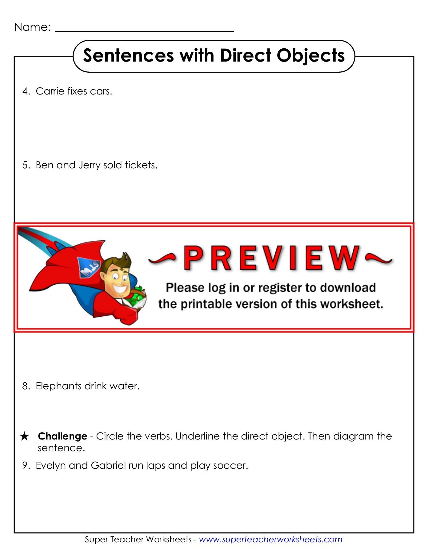 Printables Of Super Teacher Worksheeets