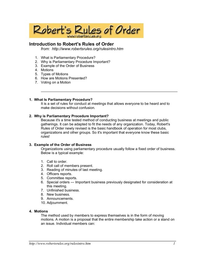 Simplified Roberts Rules of Order Pages 25 - 255 - Flip PDF Download