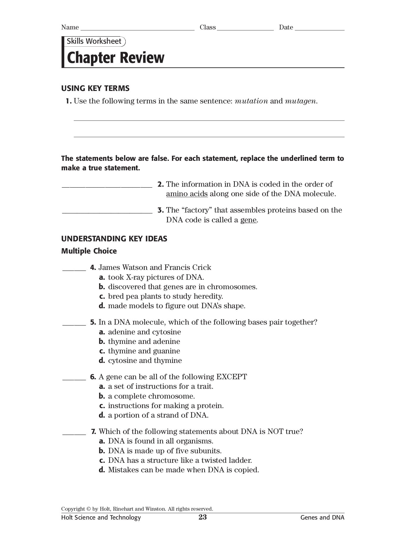 Bestseller Holt Sciences Page 23 Answer Key