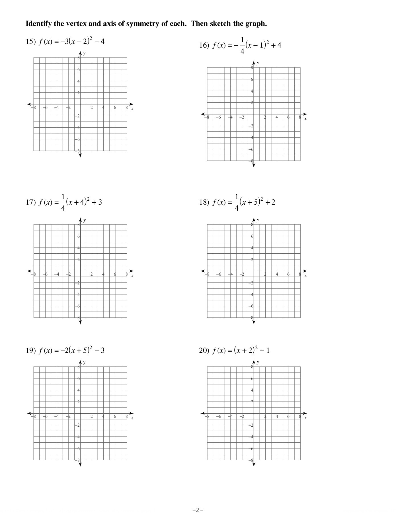 Write The Equation Of A Line From Graph Worksheet Kuta