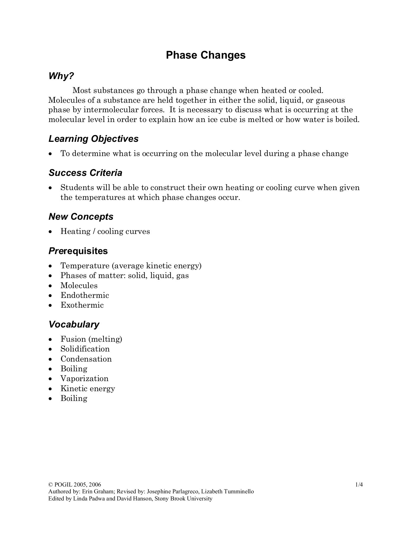 Phase Change Diagram Worksheet Answers