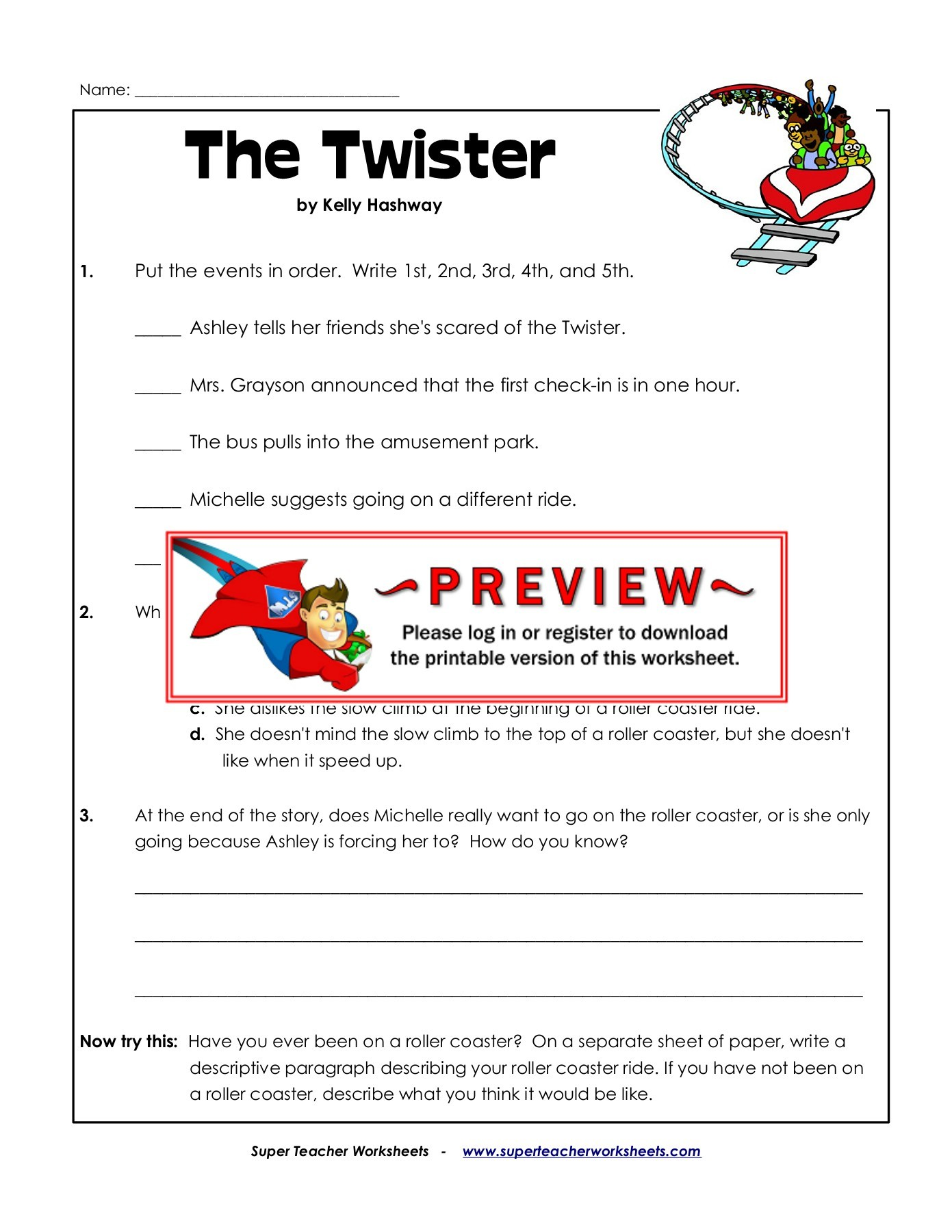 Twister Video Worksheet Answers