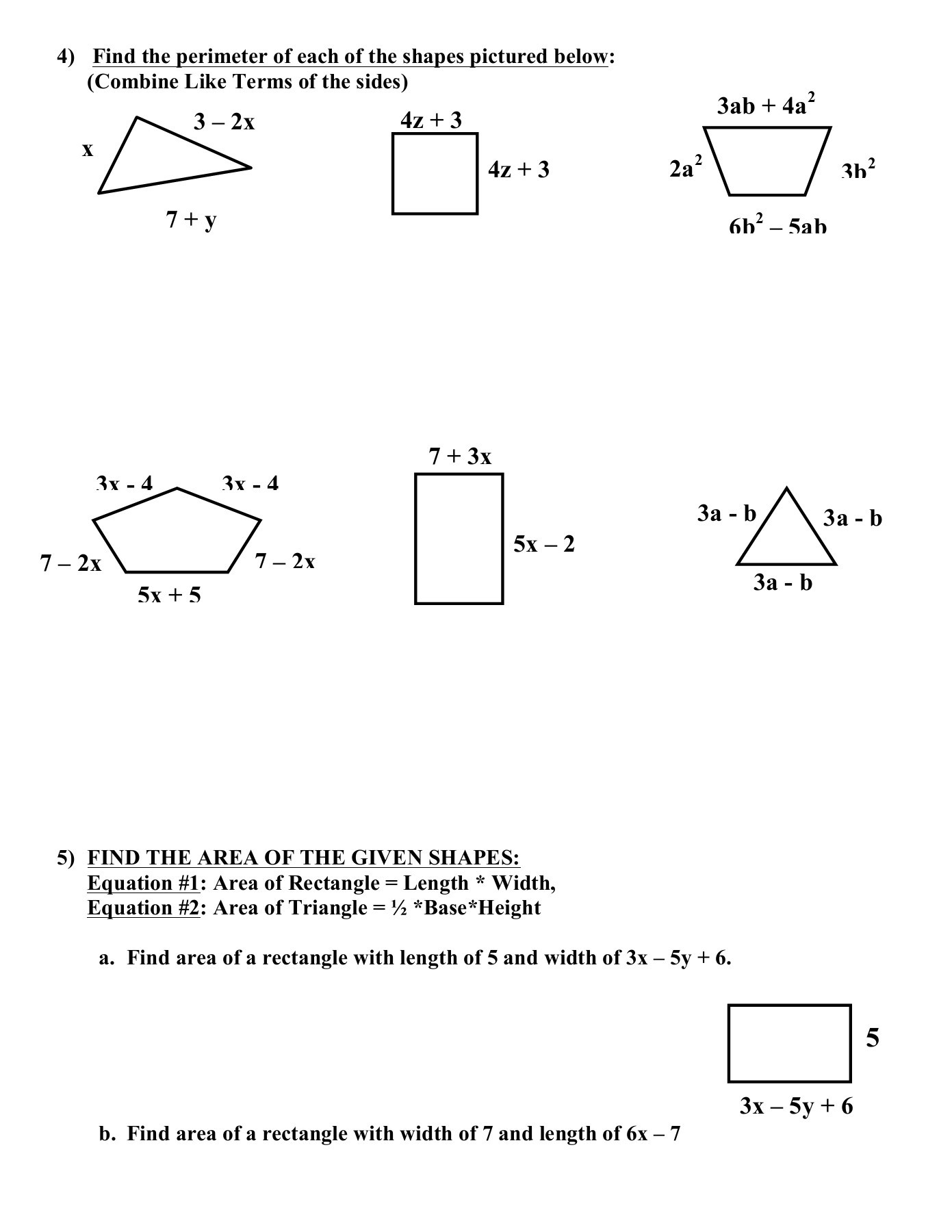Worksheets Combining Like Terms And Distributive Property Worksheet Cheatslist Free Worksheets