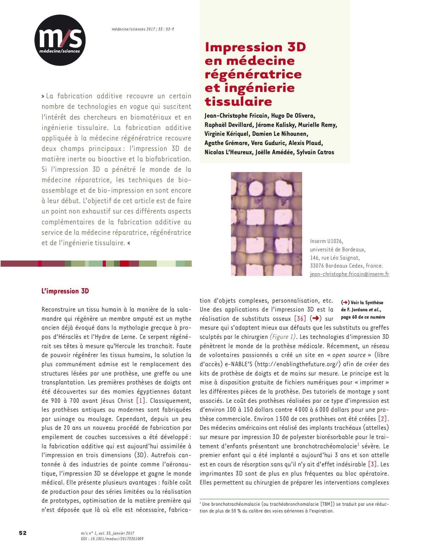 medecine sciences vol 33 n 1 janvier 2017 pages 51 100 text version fliphtml5