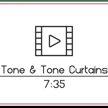 29.4 Up & Over Tone on Tone Curtain