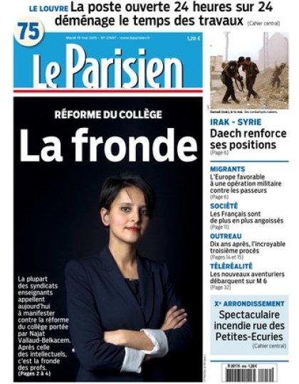 Le Parisien + Journal de Paris du mardi 19 mai 2015