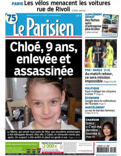 Le Parisien + journal de Paris du jeudi 16 avril 2015