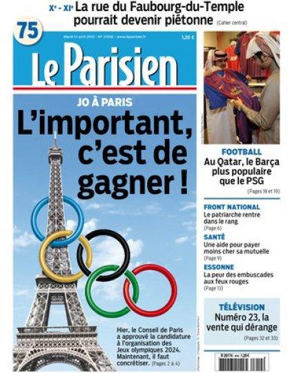 Le Parisien + journal de Paris du mardi 14 avril 2015