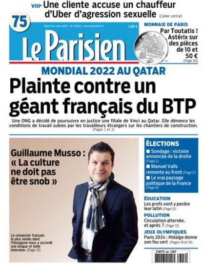 Le Parisien + Journal de Paris du mardi 24 mars 2015