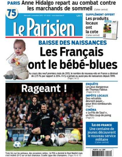 Le Parisien + Journal de Paris du mercredi 04 novembre 2015