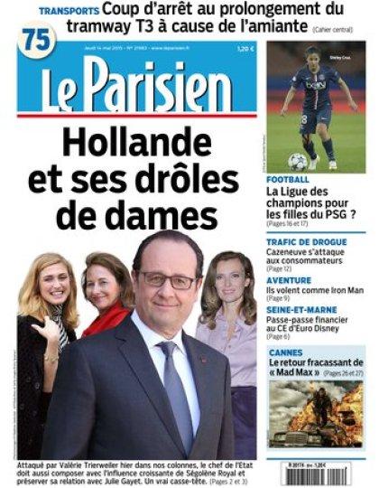 Le Parisien + Journal de Paris du jeudi 14 mai 2015