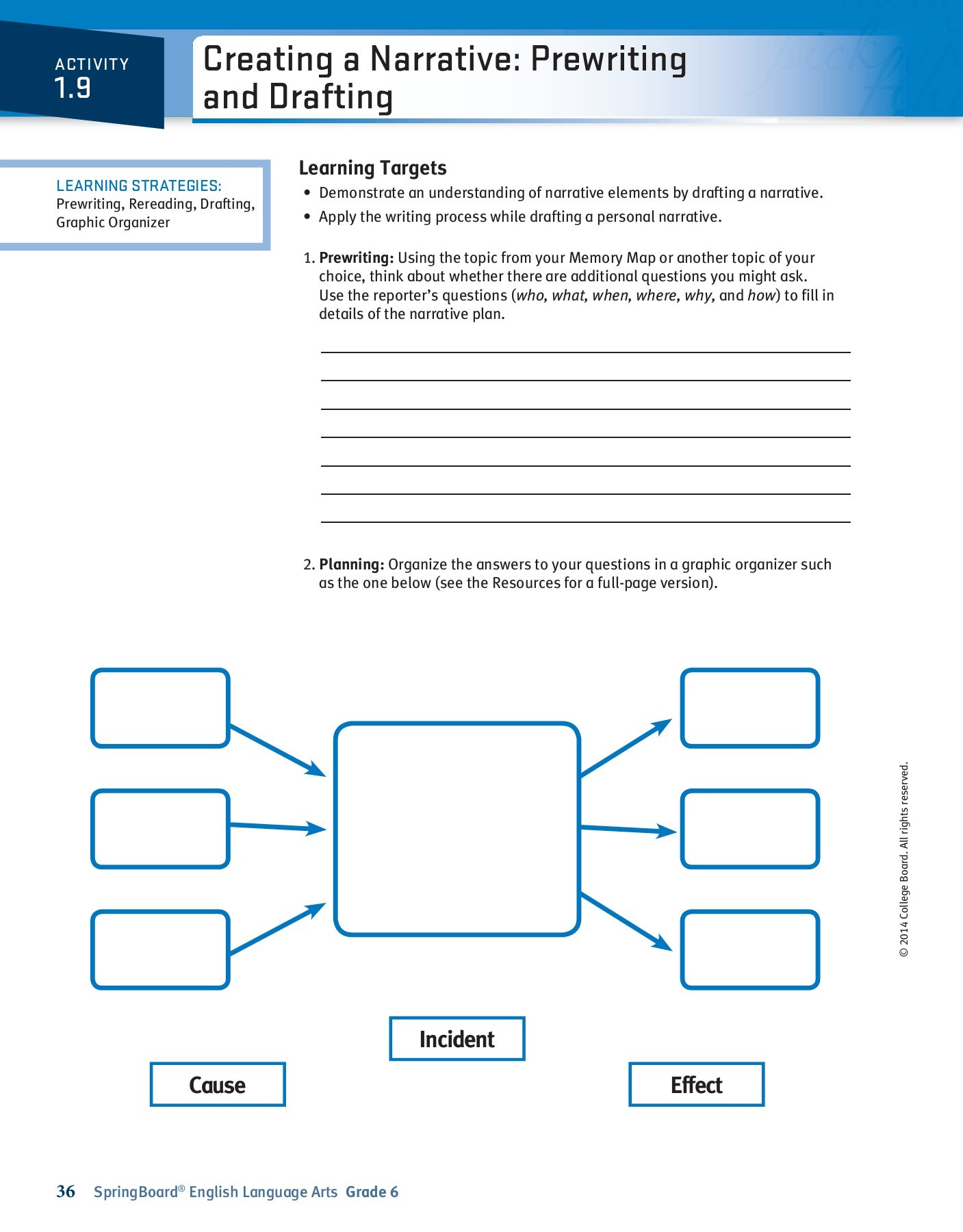 Springboard English Language Arts Grade 9 Answer Key