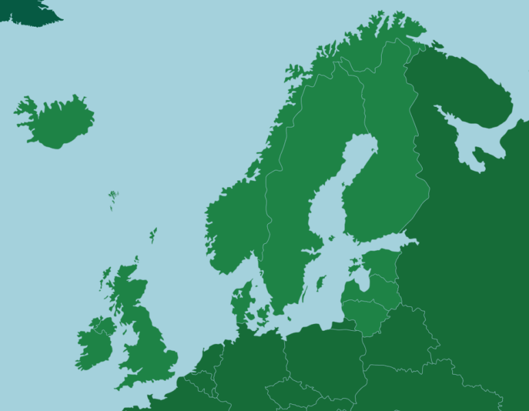 Northern Europe  Countries   Map Quiz Game