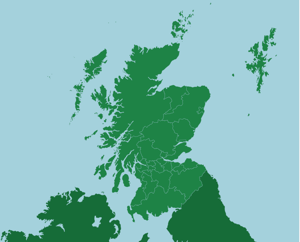 Uk Scotland Council Areas