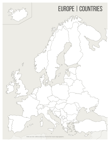 Europe Western Map Quiz Countries