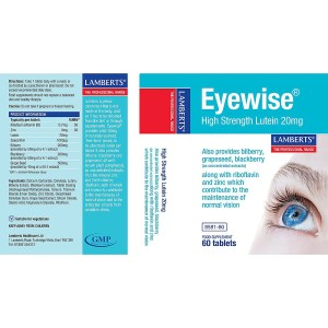 Lamberts Eyewise High Strength Lutein 20mg
