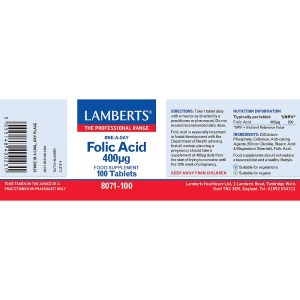 Lamberts Folic Acid 400 units