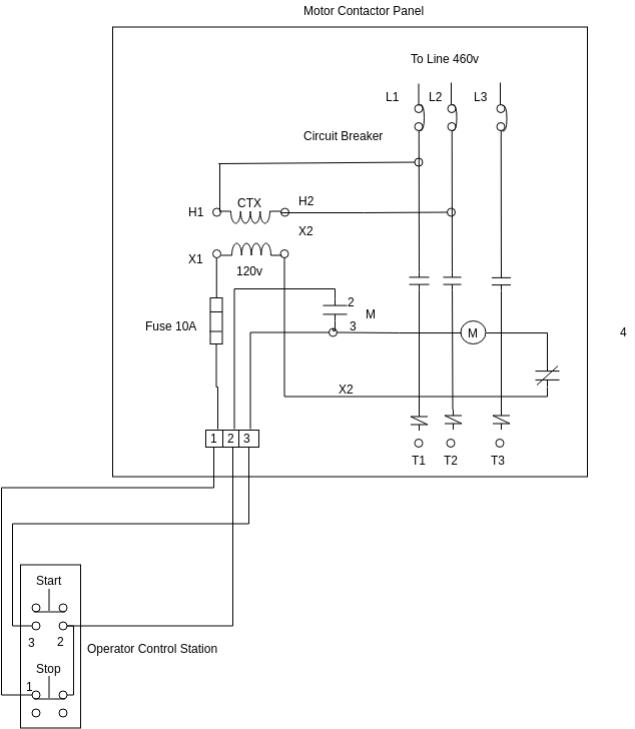 ac motor starter wiring diagrams  pietrodavicoit cycle