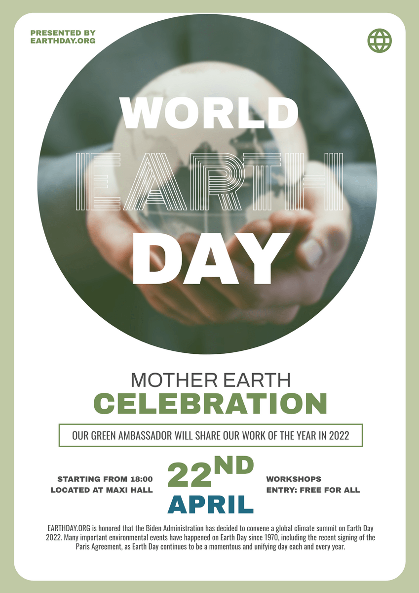 world earth day event poster poster