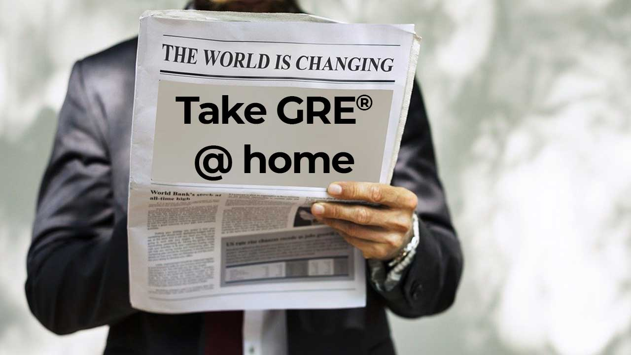 GRE General Test at home - an online version of the GRE