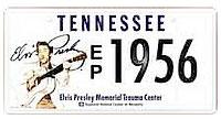 Elvis TN plate