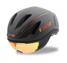 GIRO ( ジロ ) ヘルメット VANQUISH MIPS ASIAN FIT ( ヴァンキッシュ ミップス アジアンフィット ) マット グレー ファイヤー クローム M