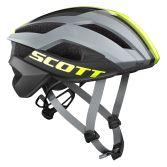 【ワイズロードオンライン限定特価】SCOTT ( スコット ) ヘルメット HELMET ARX PLUS グレー イエロー L☆ほかのサイズもございます