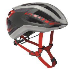 【ワイズロードオンライン限定特価】SCOTT ( スコット ) ヘルメット HELMET CENTRIC PLUS グレー レッド L☆ほかのサイズもございます