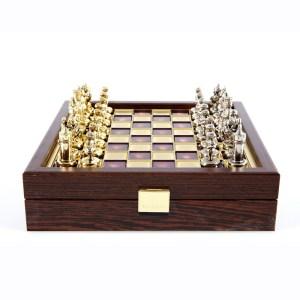EDE854002-02- Χειροποίητο μεταλλικό σετ σκακιού της Βυζαντινής Αυτοκρατορίας