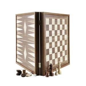 EDE900038-Τάβλι-Σκάκι χειροποίητο STP36E Μανόπουλος 41x41cm | Online 4U Shop