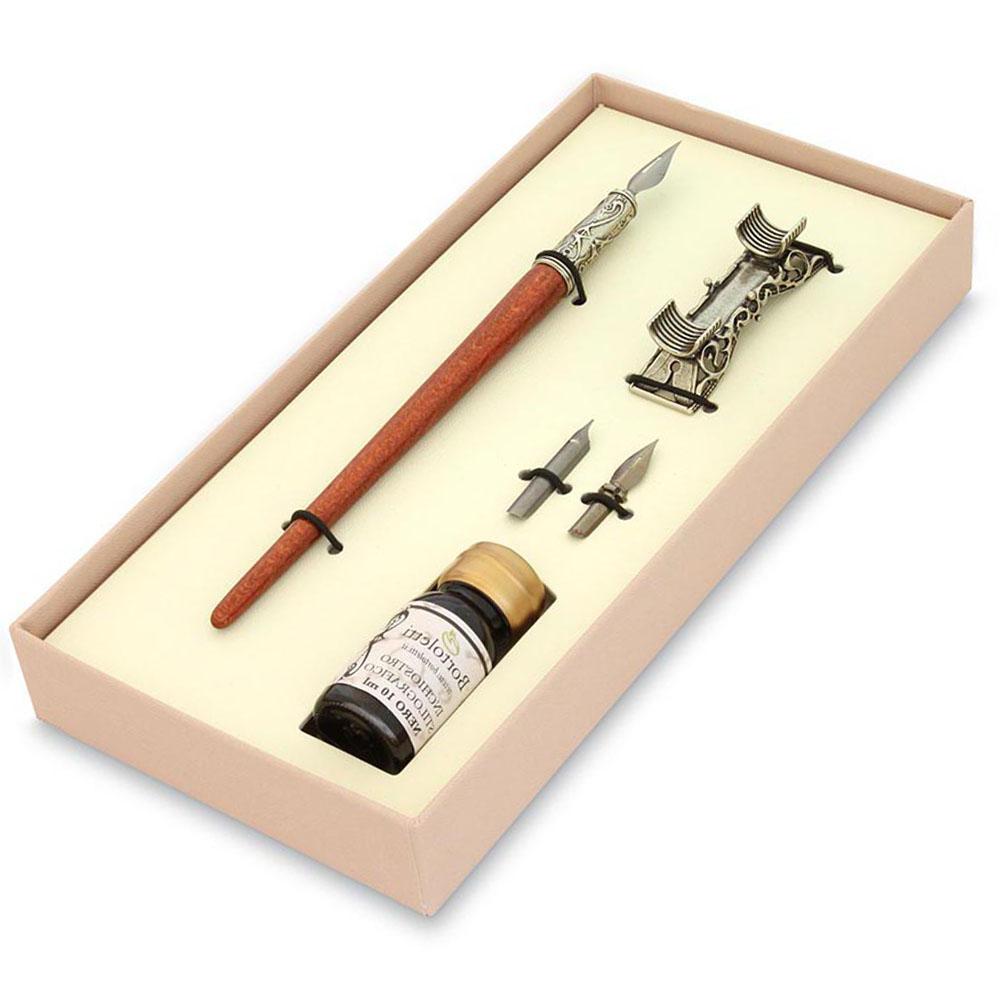 Σετ ξύλινη πένα γραφής με βάση Bortoletti SET14