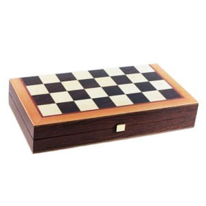 EDE900047-Ξύλινο Τάβλι σκάκι wenge tsx3cv Μανόπουλος | Online 4U Shop